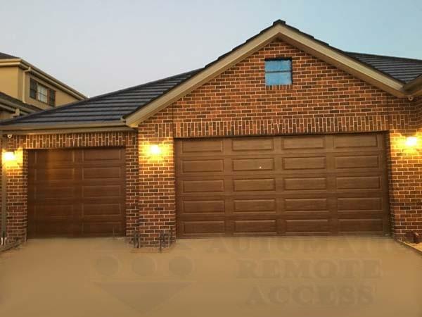 chestnut decowood ranch design panel garage door